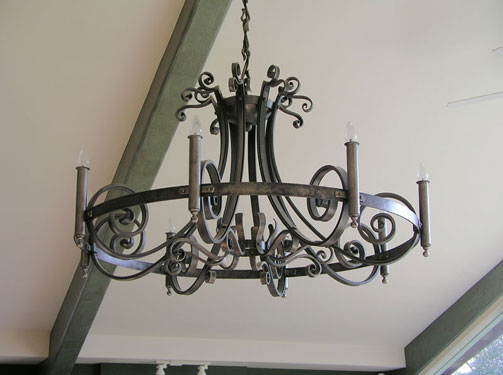 Forged steel chandelier don asbee metal artist forged steel chandelier mozeypictures Image collections